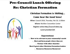 Christian Education Luncheon