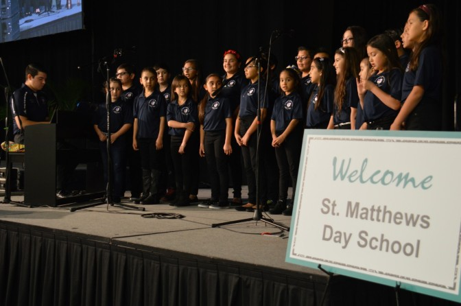 St. Matthew's Edinburg School Choir Opens Council