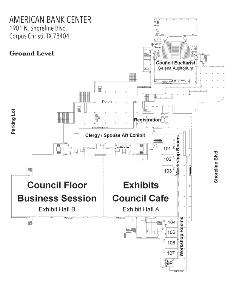 American Bank Center Floor Map Ground Level